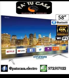 """Smart TV Hyundai 58"""" 4K Ultra HD con Bluetooth y Wifi"""