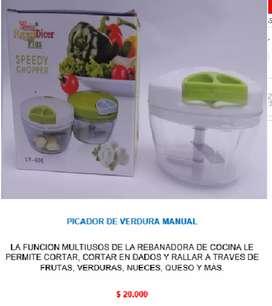 Coca yoyo manual picatodo picador cortador multiusos pica corta verduras frutas alimentos nicer dicer speedy chopper