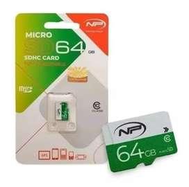 Micro SD de 64Gb clase 10 Marca NP Rápida Original
