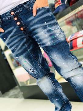 Pantalones Dsquared2 Azul Dsq2 Envio Gratis