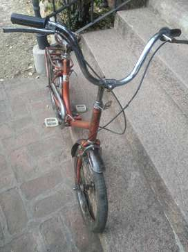 Bicicleta plegable de niña