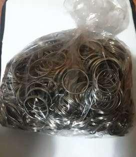 1000 argollas para llaveros  y souvenir de metal de 30 mm