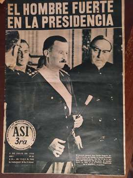 revista asi numero 33 , 9 de julio de 1966 , ongania , la seleccion argentina , bonavena