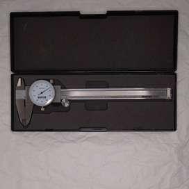 """Calibrador pie de rey carátula 6"""" largo 0.0001 precision"""