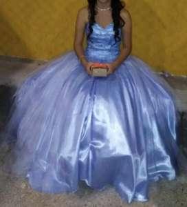 Vestido de 15 celeste