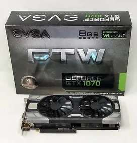 Tarjeta Video Nvidia EVGA Geforce GTX 1070 8gb FTW Gaming