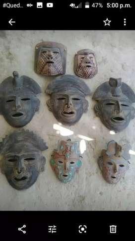 Colección máscaras indígenas de distintas etnias