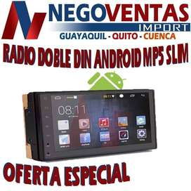RADIO PANTALLA ANDROID DOBLE DIN MP5 SLIM BLUETOOTH USB SD AUX FM PARA CARROS
