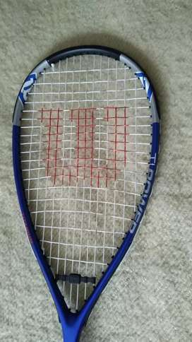Raqueta Titanium Pro para Squash más gafas de protección y pelotas