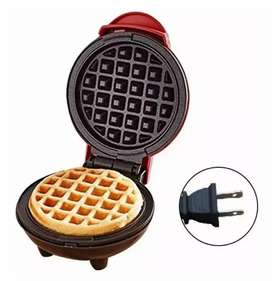 Mini waflera personal 350w nueva electrica individual maquina para hacer wafles y pancakes waffles panqueques plancha