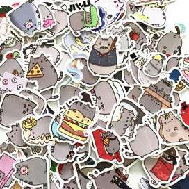 Pusheen Stickers Adhesivos Kawaii Scrapbooking