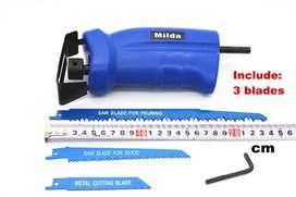 Cortador Caladora Adaptable a Atornillador para Madera y Metal