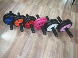 Nuevos colores rueda abdominal profesional + tapete