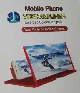 Proyector soporte Amplificador de pantalla video para celular 22x18 cm lupa 3d magica portatil