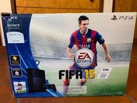 vendo PlayStation 4 con 2 joysticks incluidos