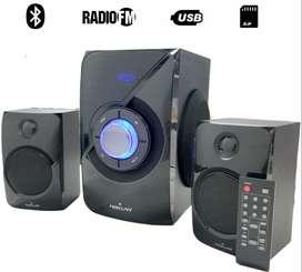 Teatro En Casa 2.1 Bluetooth Radio Fm Usb Puerto Sd