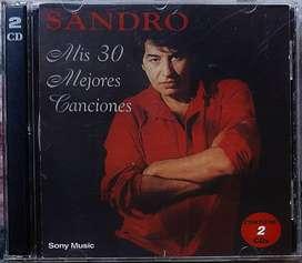 Sandro Mis 30 Mejores Canciones Cd Doble Sony Music 1998