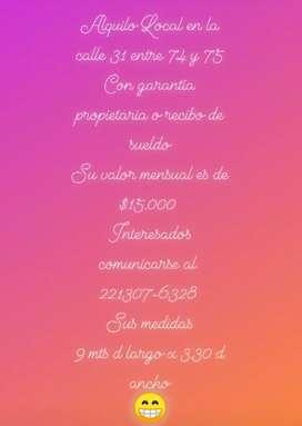 Alquiler de local zona La Plata