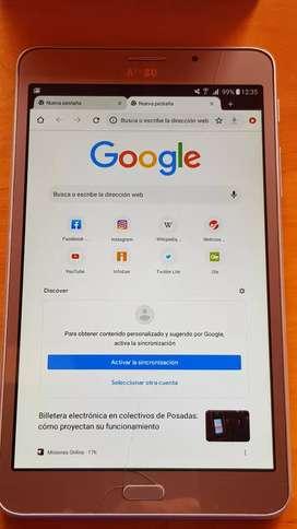 Tablet Samsung funcionando 100%. Chip para teléfono