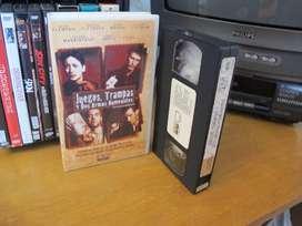 Pelicula Juegos, trampas y dos armas humeantes (Lock, Stock and Two Smoking Barrels) VHS ARG Guy Ritchie Vinnie Jones