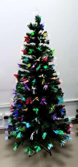 Arbol de Navidad Fibra Optica Mariposas