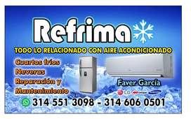 Se realiza todo con lo relacionado con la refrigeracion prengunta y con mucho gusto de atendemos