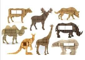 muebles en forma de animalitos