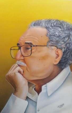 Retrato al oleo de Gabo