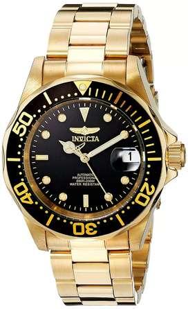 Reloj Invicta automático dorado oro amarillo. Originales hombre Fossil Armani Citizen Casio Diesel