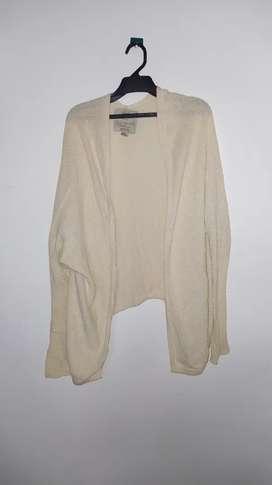 Abrigo tejido blanco