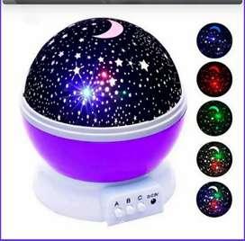 Proyector cielo lámpara giratoria luna y estrellas