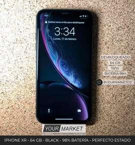 Iphone XR Black 64 GB EXCELENTE ESTADO bateria 98%