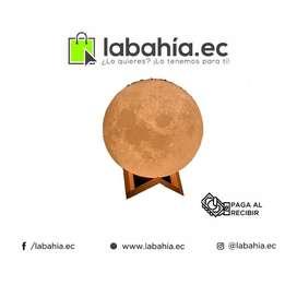 Lámpara Luna, Impresa En 3d, Touch. Cambia De Colores. 15cm.