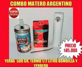OFERTA! COMBO MATERO ARGENTINO!