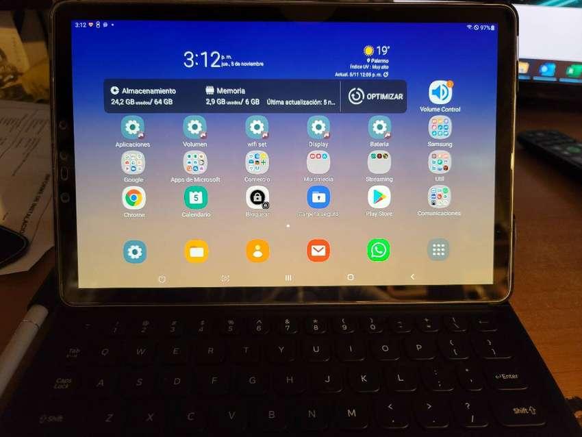 Tablet Samsung Tab S4 Mt-835 6gb Lte 64gb Black-funda Teclado 0