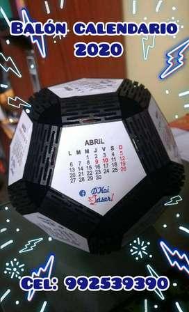 Calendario balon 2020 - MDF