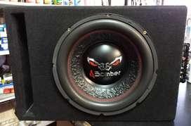 Vendo cajon con Subwoofer Bomber 800w 12' + potencia Sound Magus 1200w