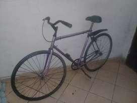 Bicicleta media carrera tipo fixie antigua rodado 28
