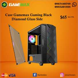 Case Gamemax Black Diamond Glass Side