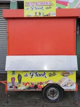 Kiosco adaptable para comida rapida