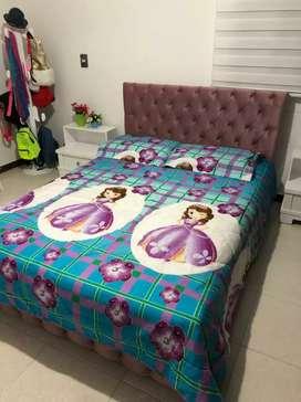 Acolchado cama doble para niña