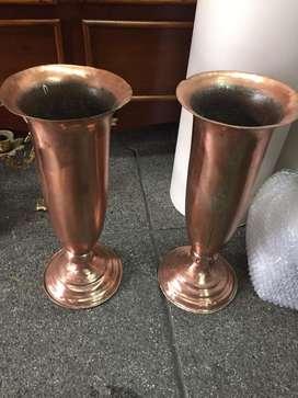 Jarrones en bronce