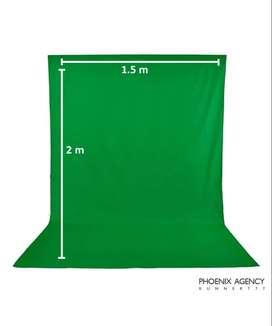 Tela Telon Verde Lino Fondo Estudio Chroma Key 2m