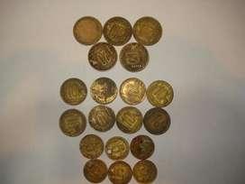 """monedas antiguas Arg. """"torito"""" (x19)"""
