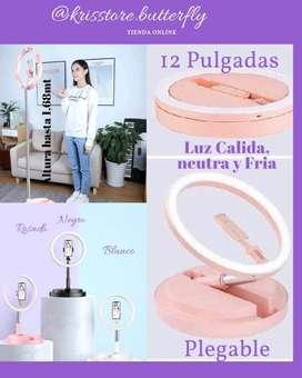 ARO DE LUZ 12 PULGADAS IDEAL PARA TIK TOK Y MAS