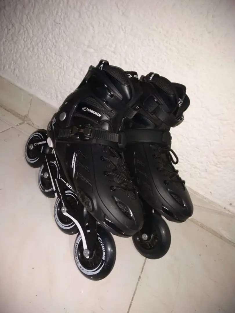 Vendó patines semiprofesionales Canariam Black Magic 0