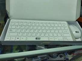 Combo inalámbrico teclado y mouse EZI BLANCO