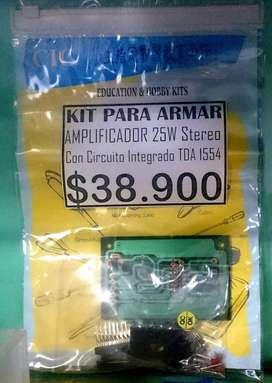 KIT PARA ARMAR AMPLIFICADOR STEREO