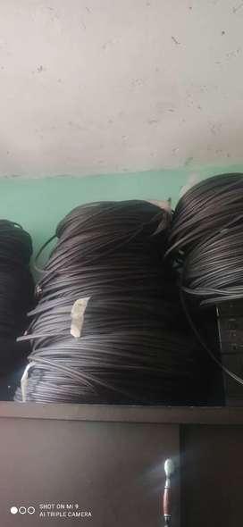 Cable coaxial rg6 trishield rollo x100 metro blanco/ negro,al por mayor y al detal domicilio gratis en localidad de usme