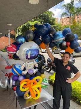 Decoracion con globos , bouquete con globos